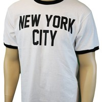John Lennon New York City Ringer Fitted Jersey Tee M