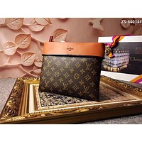 LV Louis Vuitton MONOGRAM LEATHER POCHETTE TUILERIES HAND BAG