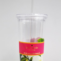 Floral + Clear Insulated Tumbler: Kate Spade