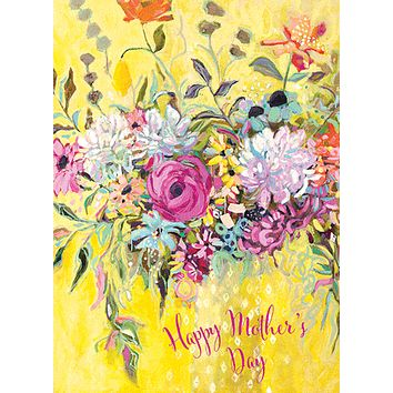 Yellow Bouquet Mother's Day Card