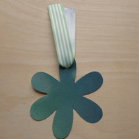 Flower Gift Tag for Him or Her Green