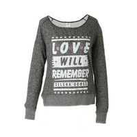 Selena Gomez Official Store | Selena Gomez Love Will Remember French Terry Junior Top