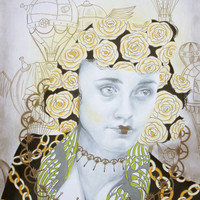 Dreams of Gold Art Print by Allise Noble