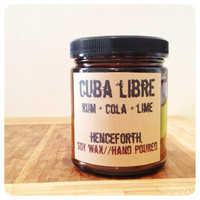 Cuba libre: alcohol scented candle, man candle, rum and coke, am
