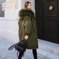 Trendy Winter Coat Women 2018 Parkas For Female Jacket Thicken Warm Hooded Coat Big Real Fur Collar  Womens Winter Jackets And Coats AT_94_13