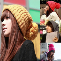 Fashion beanie hats with top ball womens and girl gorras hat bonnet gorro Beanies winter hats for women Knit cap beanie gorros woman female girls hiphop outdoors wool Hip-hop cap Letter Beanie Warm ski Sport knitted hat caps = 1958006468