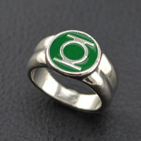 classic alloy  lantern ring  ring for men superhero dc comics marvel movie jewelry replica Power Ring