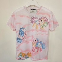 """Moschino"" Unicorn Pink Short sleeve t-shirts"