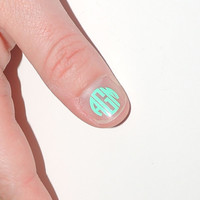6 EXTRA Small NAIL Monogram Vinyl Decals by CuttinCrazy on Etsy