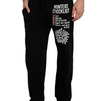 Supernatural Hunter's Checklist Guys Pajama Pants