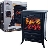 Warm House? Retro Floor Standing Electric Fireplace