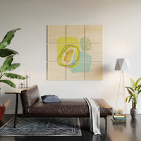 Modern minimal forms 48 Wood Wall Art by naturalcolors