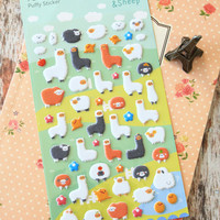 Yoofun Alpaca & Sheep puffy cartoon stickers