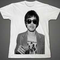 Brendon Boyd Urie Brendon Urie Panic! at the Disco Weezer Too Weird to Live, Too Rare to Die! White Unisex T-Shirt S to 2XL