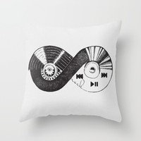 INFINITY MUSIC Throw Pillow by Oksana Smith