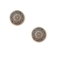 Etched Disc Studs