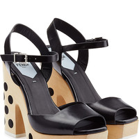 Fendi - Leather Platforms with Polka Dots