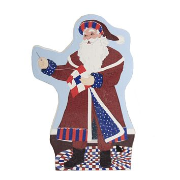 Cats Meow Red White & Blue Santa Standing 2020 Christmas Quilts Valor - 20601
