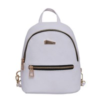 Women's Leather Backpack Travel School Rucksack Mini Backpacks Lady Back Pack for Teenage Girls Chest Shoulder bag