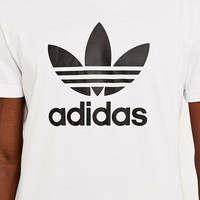 adidas Originals White Trefoil Tee - Urban Outfitters
