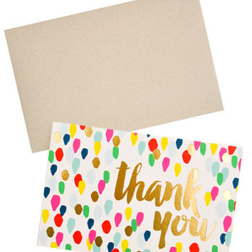 Confetti Drops Thank You Card Set