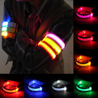 LED Arm bands Lighting Armbands  Leg Safety Bands for Cycling/Skating/Party/Shooting 7 Colors free s