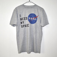 I Need My Space Nasa Meatball Space Shirts Women's Heather Grey T shirt | Nasa I need my Space Graphic Tees for Women | calum hood nasa(406)