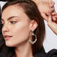 Free People Esperanza Coronation Hoop Earrings