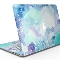 Mint Absorbed Watercolor Texture - MacBook Air Skin Kit