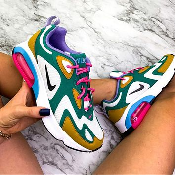 Nike Air Max 200 Contrast Poly line Print Shoes Sports Air Sneakers Rainbow Green