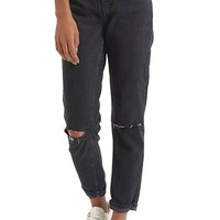Topshop Moto Mom Washed Ripped Jeans   Nordstrom