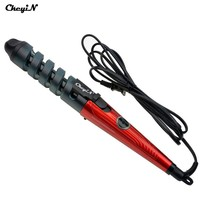 CkeyiN 110-240V Magic Hair Curler Tools Spiral Hair Styler Electric Ceramic Curling Iron Curling Wand Fast Curl Hair Stylers
