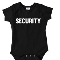 SECURITY COSTUME Onesuit FUNNY BABY Onesuit CUTE BABY STUFF BABY CLOTHES CUSTOM BABY CLOTHES halloween outfit TODDLERS BABY GIFTS BABY SHOWER