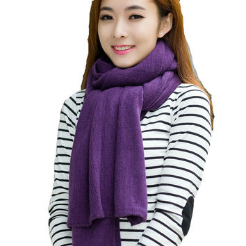 Pure Wool Knitting Acrylic Thick Scarf - 19 Colors