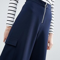 ASOS Tailored Culottes with Zip Ring Pull at asos.com