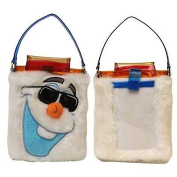 disney parks authentic frozen snowman olaf ipnone ipod camera bag new with tag