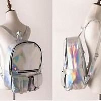 Fashion HOLOGRAPHIC Girl's big backpack Schoolbag Laser harajuku Casual bags New