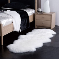 3' x 5' Free Form Shaggy Faux Fur Sheepskin Style Rug - Choose your color