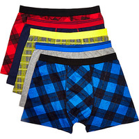 River Island MensMulticolored check boxer shorts pack