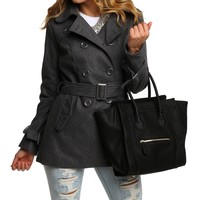 Sale-the Gray Wool Trench Coat