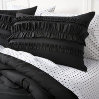 Target : Xhilaration® Ruffle Textured Bed in a Bag - Black : Image Zoom