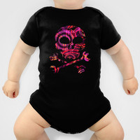 PATTERN-5 [atmospheric circle design] Onesuit by Pia Schneider [atelier COLOUR-VISION] #art #skull #Onesuits #baby #clothes #kids #parents