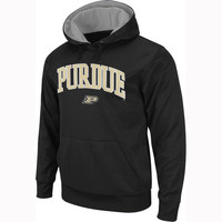 Purdue Boilermakers New Agenda Midsize Arch Over Logo Hoodie - Charcoal