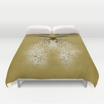 Breath the Barbare (V II gold) Duvet Cover by LilaVert | Society6