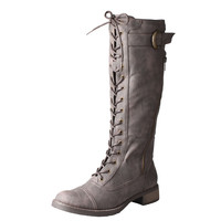 Refresh by Beston Women's 'Cici' Lace-up Combat Boots | Overstock.com