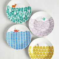 Critters Earth the Wait Plate Set by ModCloth