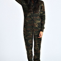 Cali Camo Hooded Onesuit