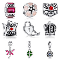 Authentic Unique Silver Plated Love Heart Charm Fit Pandora Bracelet Necklace Pendant Original Accessories Jewelry