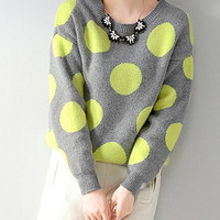 Yellow Polka Dot Sweater