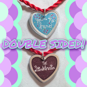 Disney Pixar Wreck It Ralph To Stinkbrain You're My Hero Double Sided Cookie Phone Charm Strap